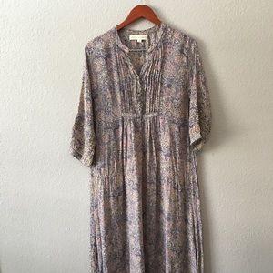 Natalie Martin M 100% Silk Floral Dress Maxi